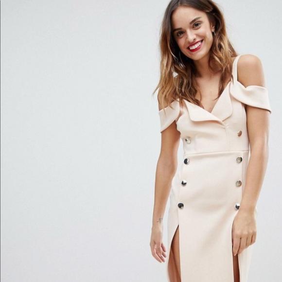 3d1c5acce41 ASOS Dresses   Skirts - ASOS Tux Cold Shoulder Button Front Midi Dress